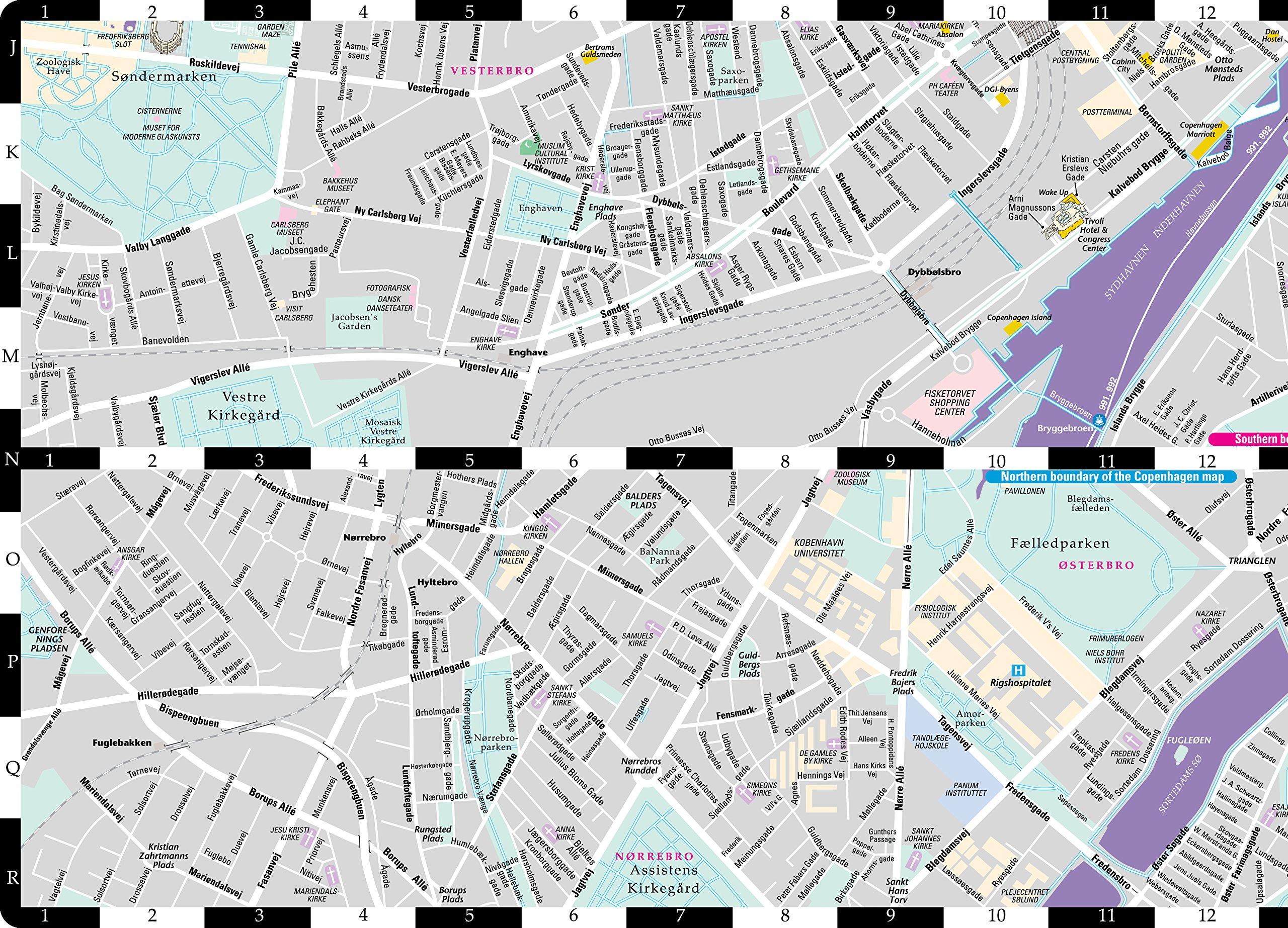 Streetwise Copenhagen Map Laminated City Center Street Map of