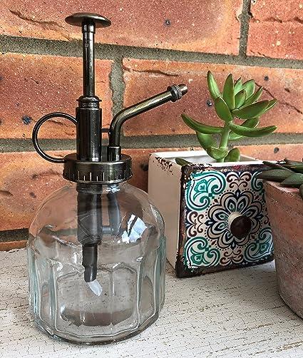 Amazon.com: Estilo vintage, botella de riego de cristal ...