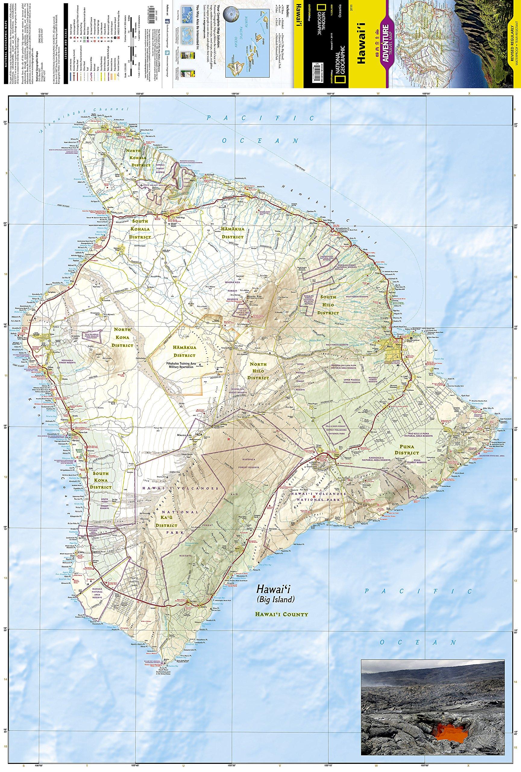 Hawaii : Travel Maps International Adventure Map: Amazon.co.uk ...