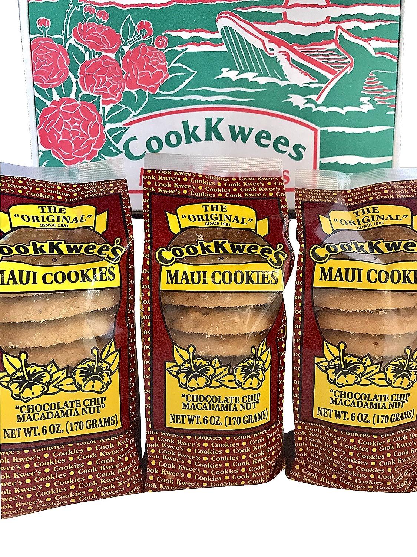 The Original Maui Hawaii CookKwees Cookies (Chocolate Chip Macadamia Nut 3pk.)