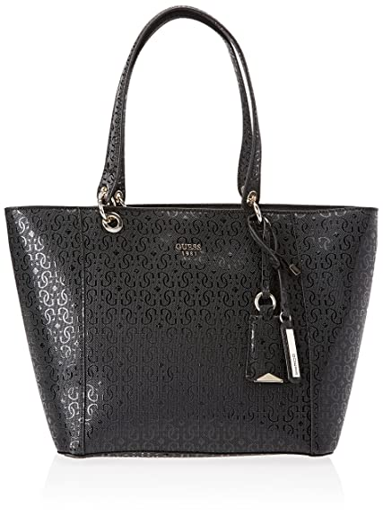 6919768185c Guess Hwgs6691230, KAMRYN GLASSY-LOOK SHOPPER, Black, 15x26.5x42 cm ...