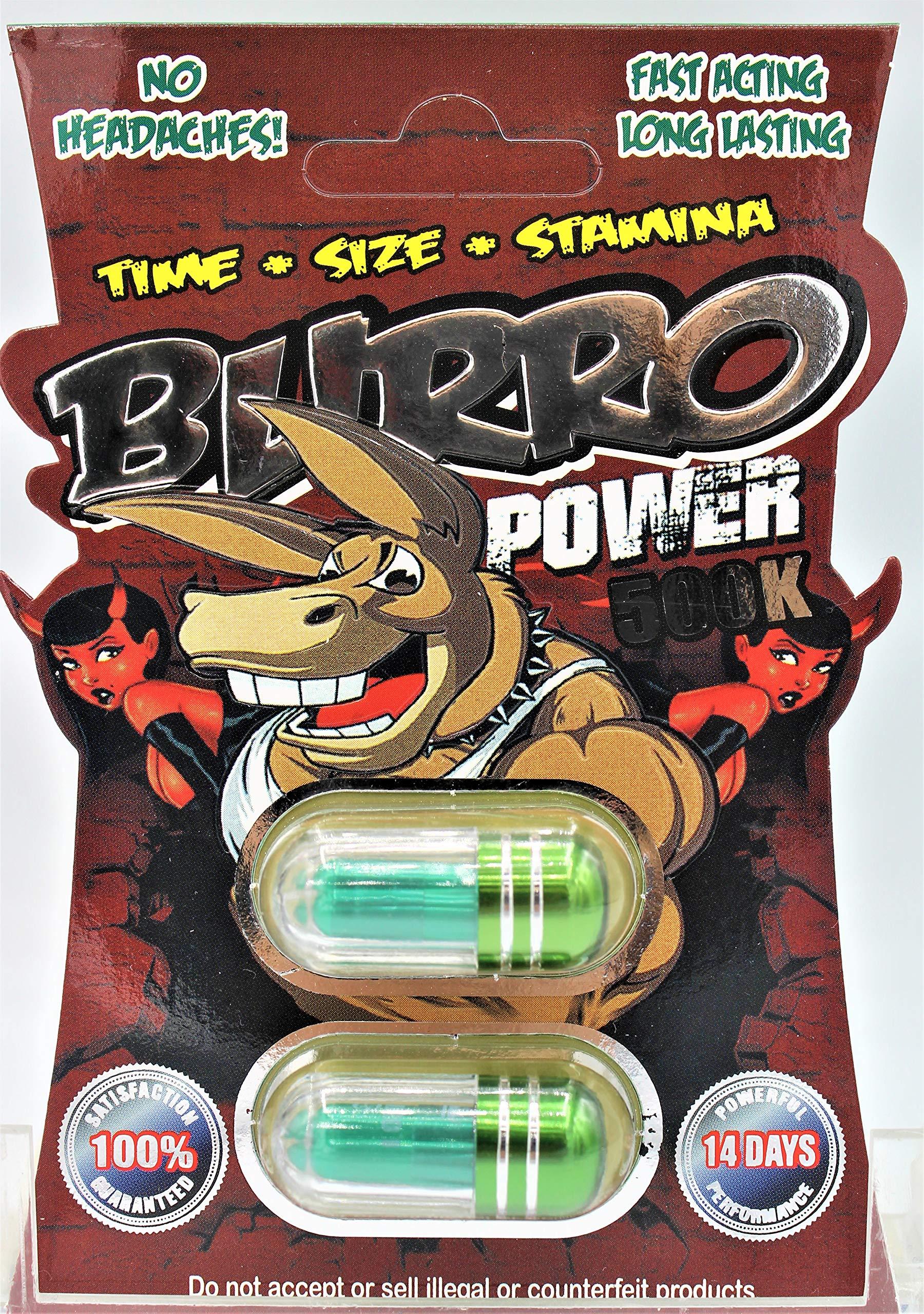 BURRO 500K Powerful Male Sexual Enhancement Long Lasting 6 Pills (Double X 3 Packs)