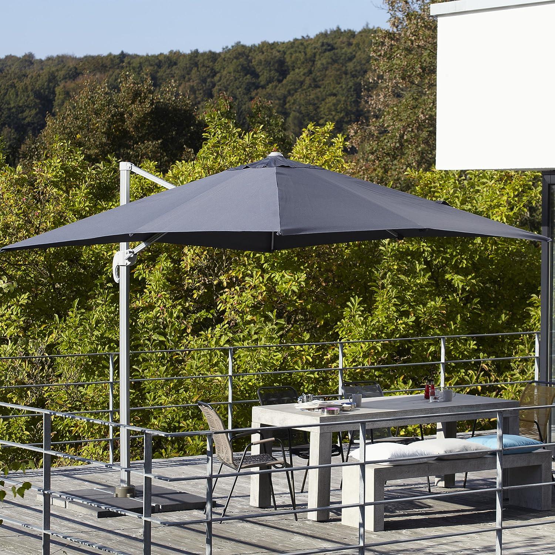 Ampelschirm inkl. Schirmständer 250 x 250 cm - anthrazit