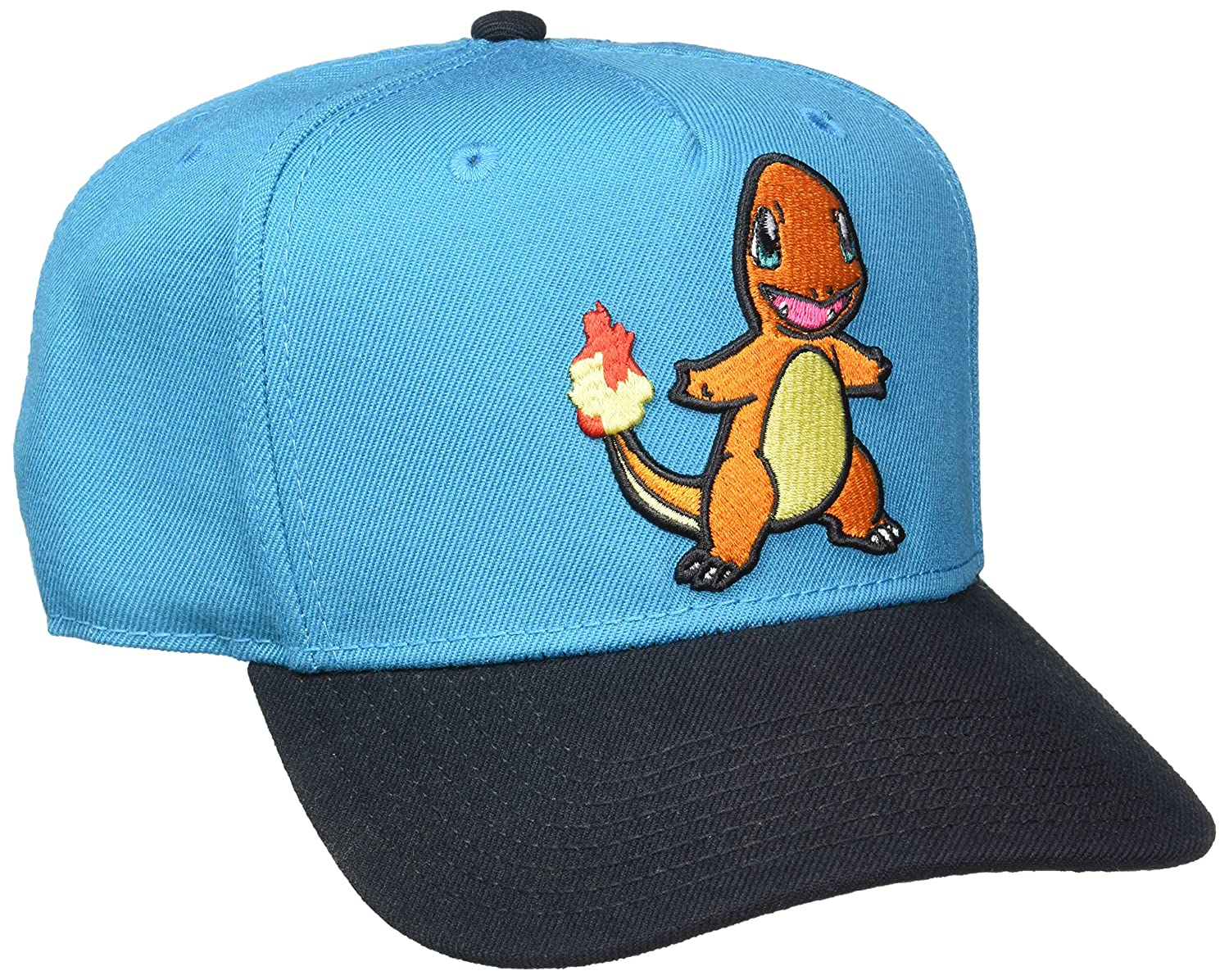 BIOWORLD Pokemon Charmander Embroidered Blue Snapback Cap Hat 887439997527