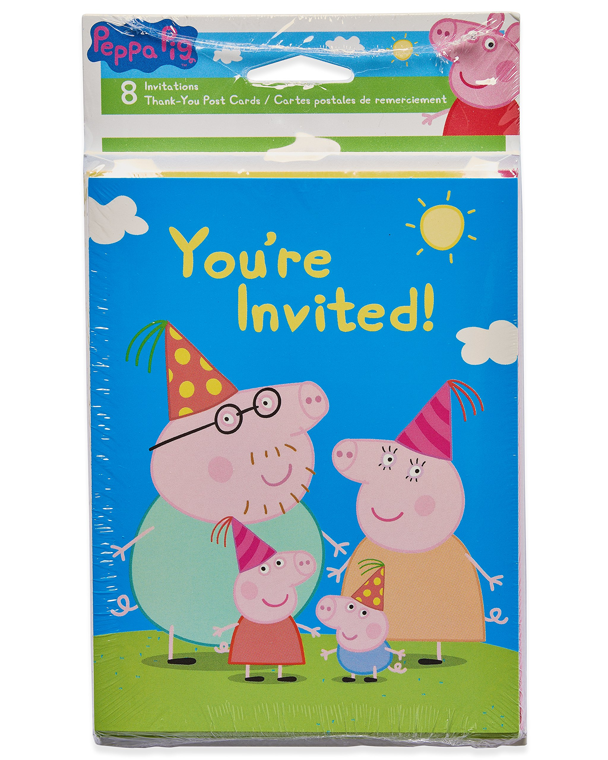 American Greetings Girls Peppa Pig Invite And Thank You Combo Pack 8