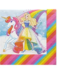 American Greetings Barbie Party Supplies, Paper Lunch Napkins (50-Count)