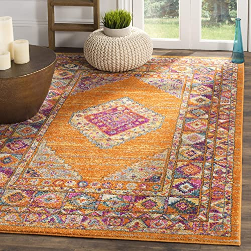 Safavieh Madison Collection MAD133D Boho Chic Medallion Non-Shedding Stain Resistant Living Room Bedroom Area Rug