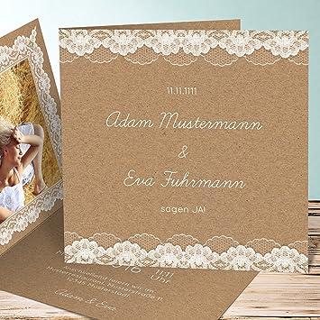 Hochzeitseinladung Selbst Gestalten Hochzeitsspitze 25 Karten