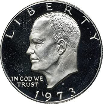 1974 S PROOF EISENHOWER DOLLAR 40/% SILVER GEM DEEP CAMEO IKE COIN ~IN CAPSULE!