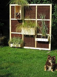Amazon.de: Garten Sichtschutz Trennwand aus Weide und Holz ...