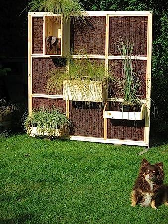 Trennwand Garten amazon de sichtschutz garten trennwand living wall nature aus