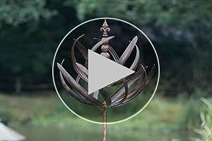 70 x 70 x 220 cm Creekwood Windsor Garden Wind Spinner-Brushed Copper