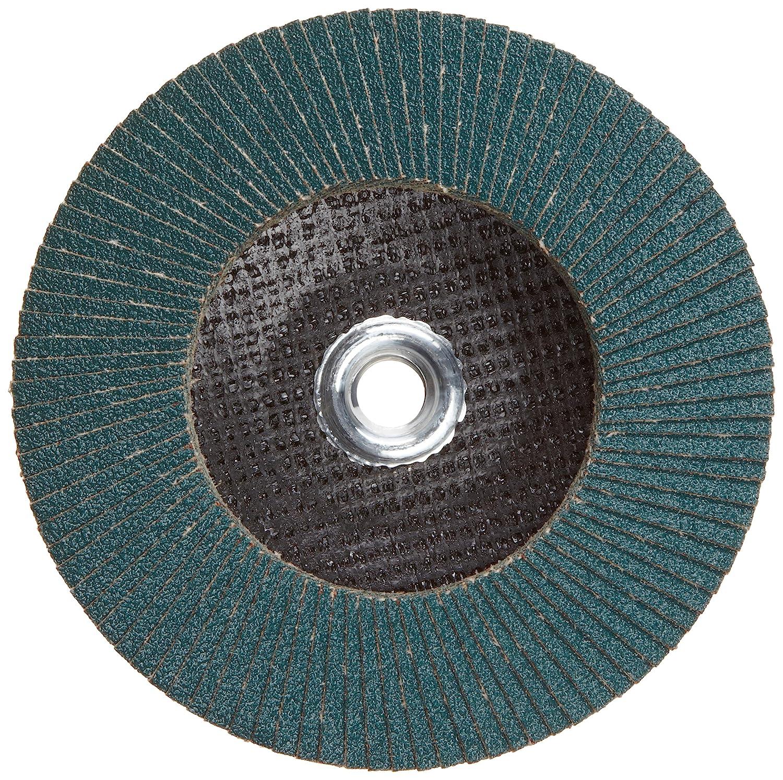 PFERD Polifan PSF Abrasive Flap Disc 60 Grit Pack of 1 Phenolic Resin Backing 6 Dia. Type 27 Zirconia Alumina Threaded Hole