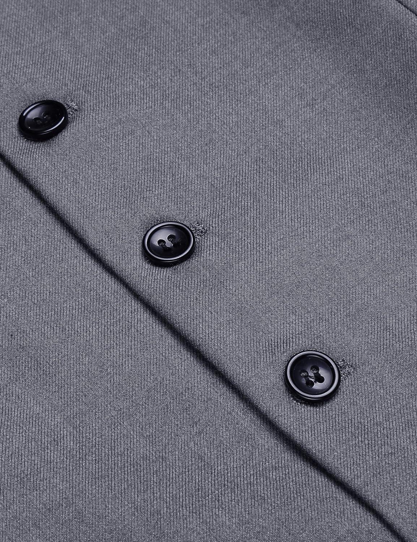 JINIDU Mens Casual Slim Fit Skinny Wedding Dress Vest Waistcoat