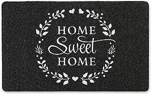 SoHome Welcome Door Mat, Outdoor Door Mat Made from Durable Natural Rubber, Non Slip Backing, Ultra Absorbent, Easy Clean, Ideal Indoor Door mat for Entry Way, 18