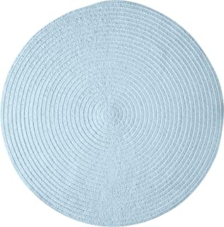 product image for Spring Meadow Round Rug, 12-Feet, Sky Blue
