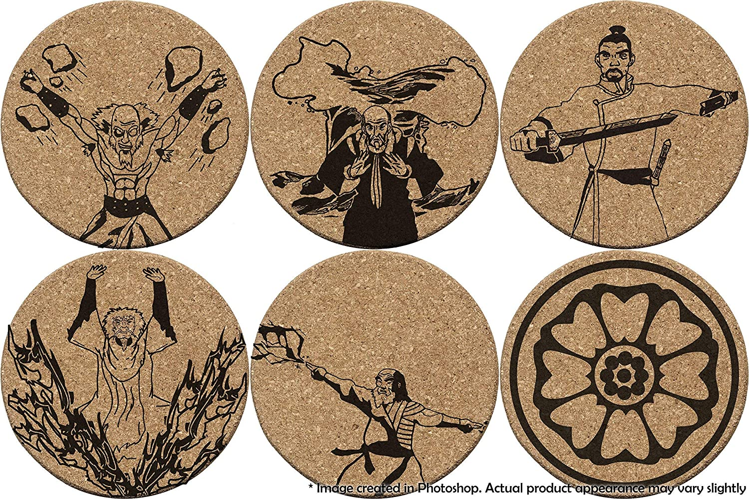 Amazon Com Order Of The White Lotus Double Sided Coasters