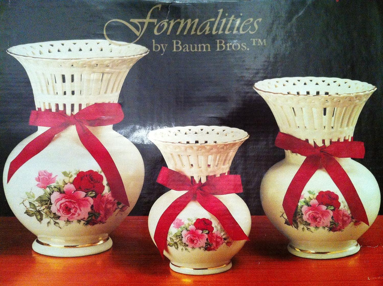 Amazon formalities by baum bros latticework vases victorian amazon formalities by baum bros latticework vases victorian rose collection set of 3 home kitchen reviewsmspy