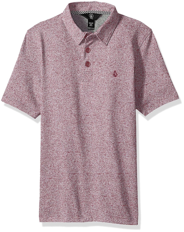 Volcom Boys 8-14 Wowzer Polo Size L Color CABERNET