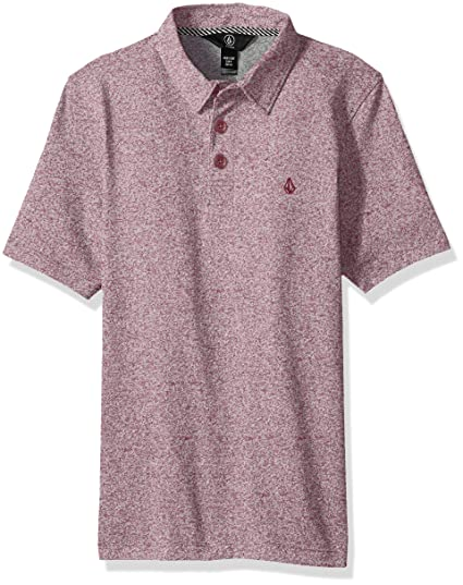 Big Boys Volcom X Large Wowzer Modern Fit Cotton Polo Cabernet