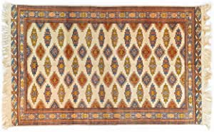 Pure Natural Wool Turkmen Elite Handmade Carpet (1.93m X 3.03m)