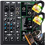 Mackie ProFX6v3 6-Channel Mixer with USB and Effects with Pair of EMB XLR Cable and Gravity Magnet Phone Holder Bundle…