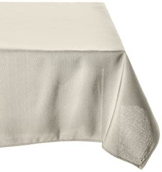 LinenTablecloth 60 X 126 Inch Rectangular Polyester Tablecloth Beige