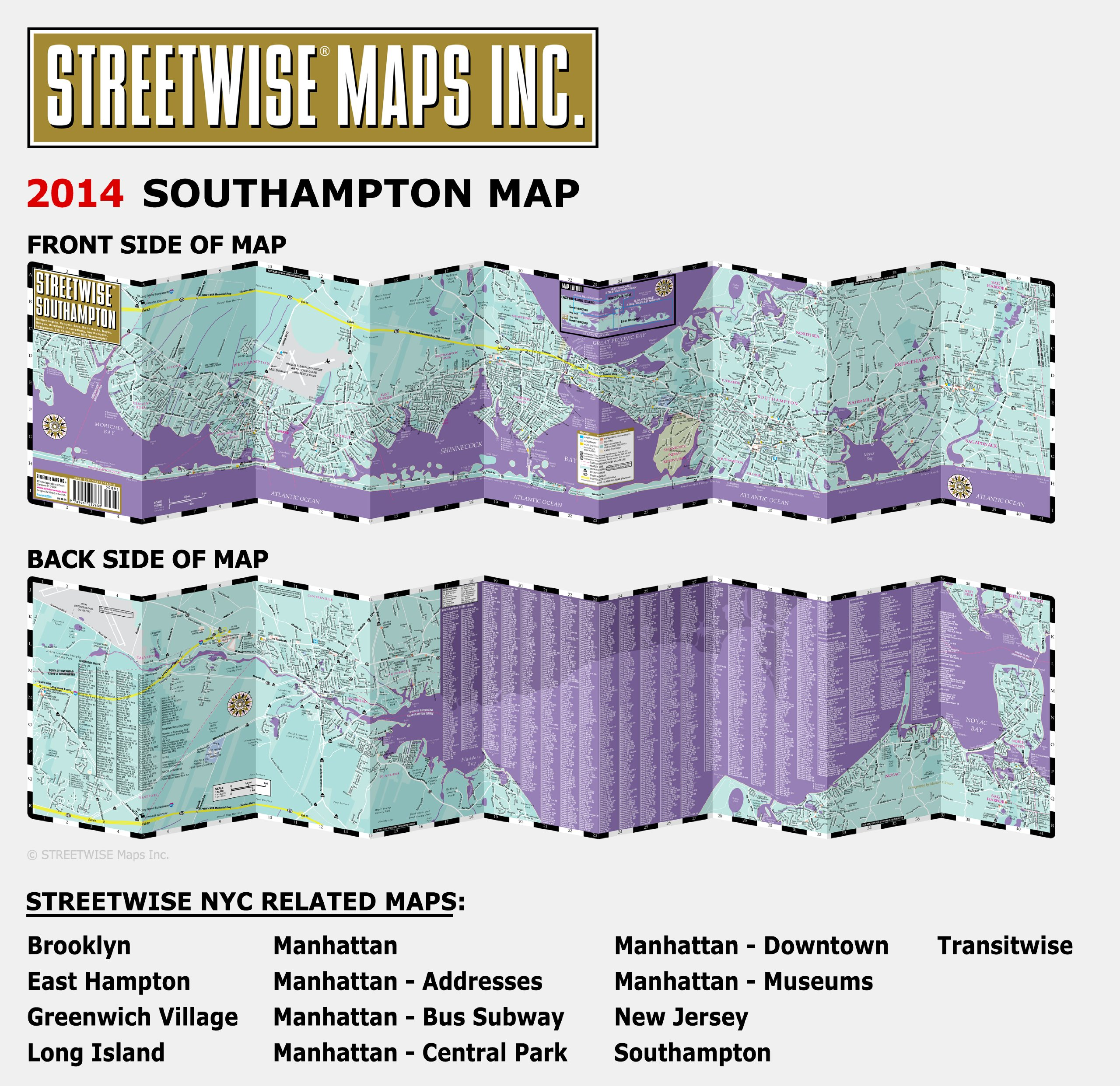 Streetwise Southampton Map  Laminated City Street Map of