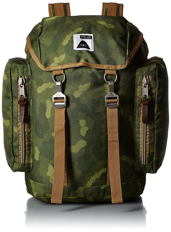 POLER Rucksack Bag, Green Camo, 50 x 40 x 6 cm, 25 Liter, POLBAG_RUC