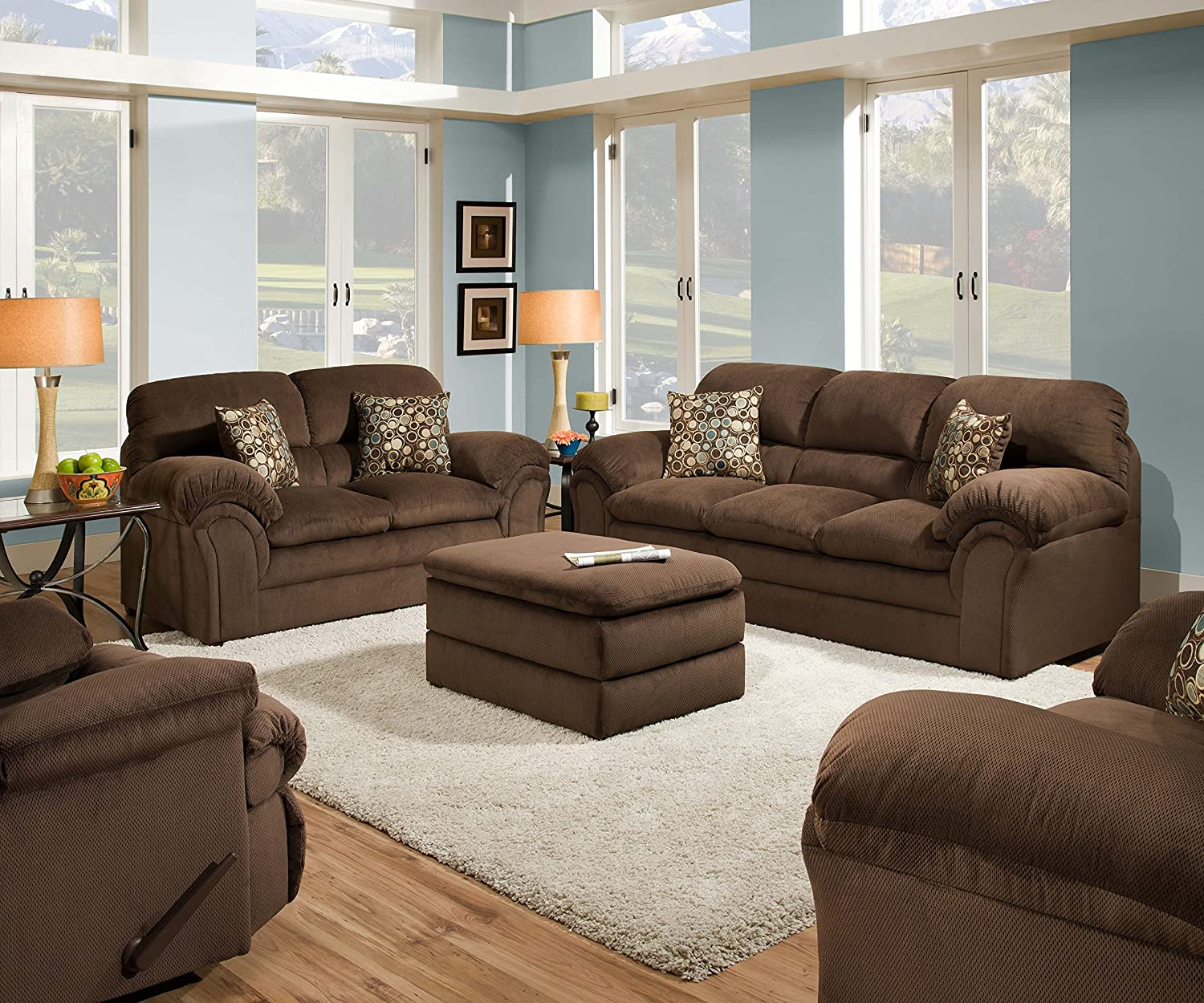 simmons loveseat. amazon.com: simmons upholstery 6150-02 harper cocoa loveseat: kitchen \u0026 dining loveseat a