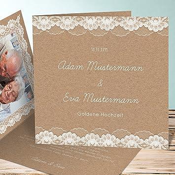 Einladungen Goldene Hochzeit Vorlagen Hochzeitsspitze 130