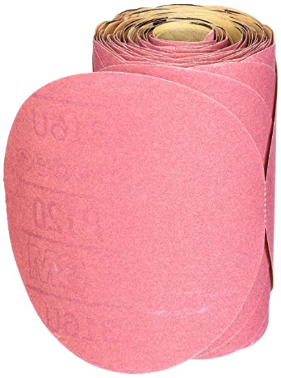 3M Sandpaper Red Abrasive 316U 6 in Stikit Disc P320 Grade Roll of 100-01109