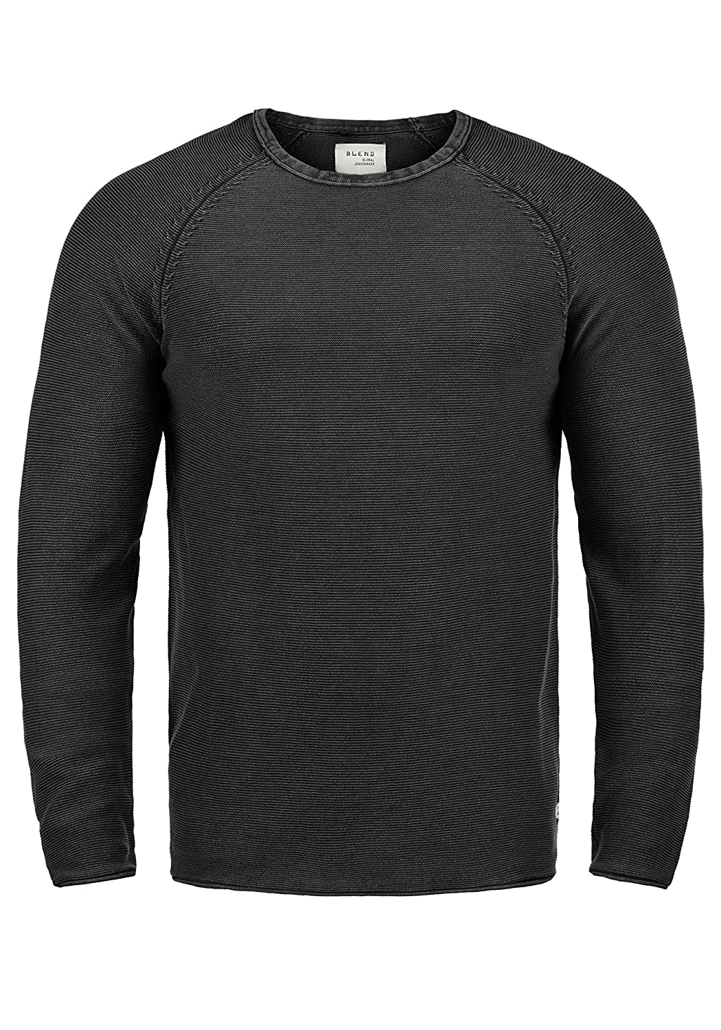 Blend Oddone Men's Jumper Knit Pullover Crew Neck Made 100% Cotton