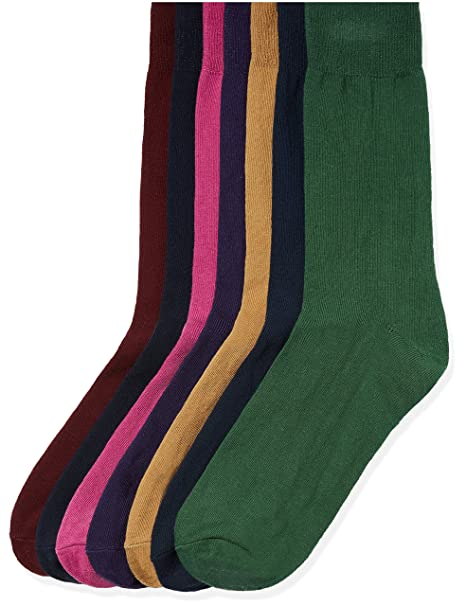 FIND Calcetines de Colores Hombre, Pack de 7, Multicolor (Multi Coloured),