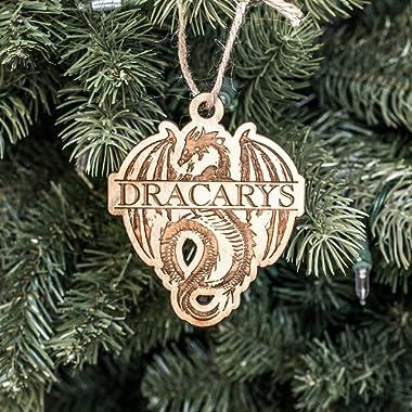 Ornament - Dracarys - Raw Wood 3x3in
