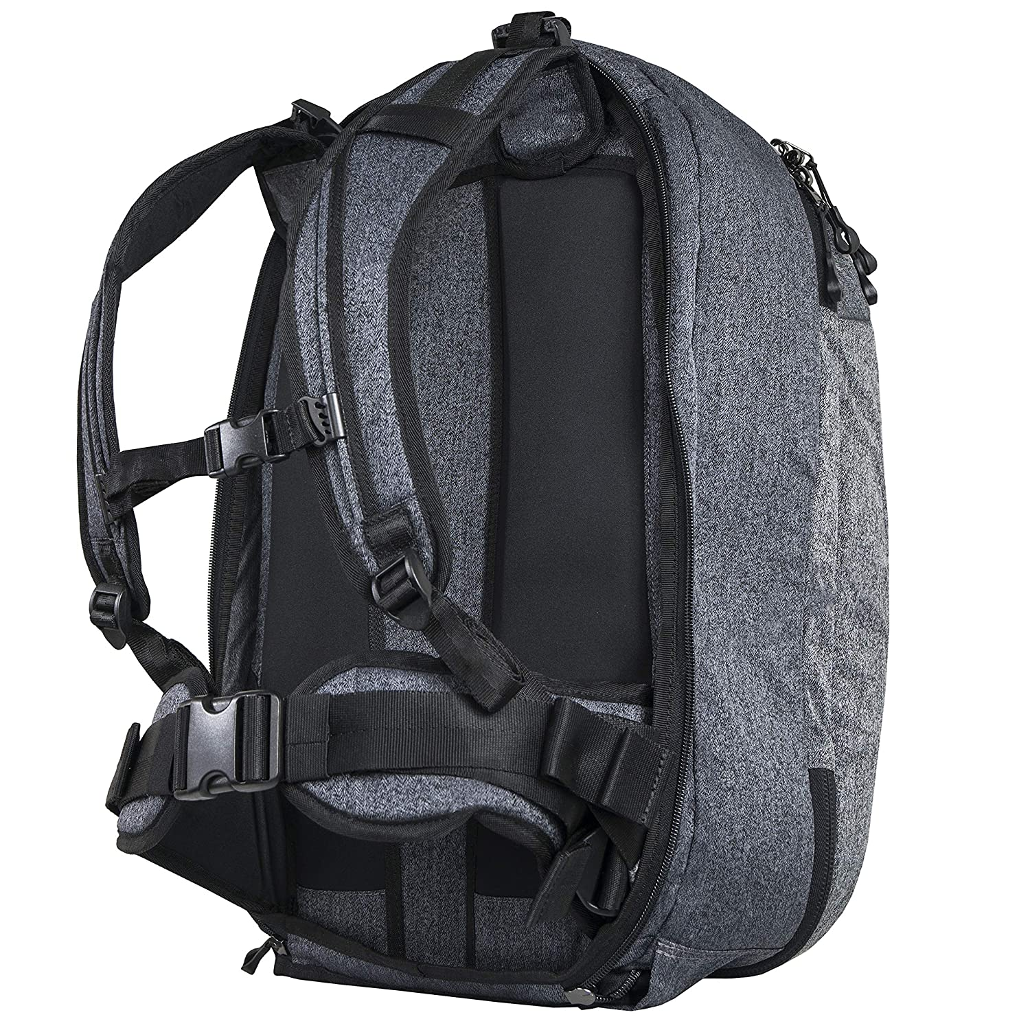Sherpani Oslo 38L Nylon Travel Backpack and Weekender Bag for Men and Women with RFID Protection