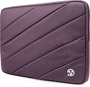 Protective Purple Shock Absorbing Laptop Sleeve for Dell Inspiron, Latitude, XPS, Precision, G3 G5 G7 15, Vostro, Alienware m15, m15 R2 14 to 15.6 inch