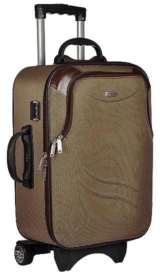 TREKKER Polyester 50 cms Brown Softsided Cabin Luggage  TTB BEST20 BR
