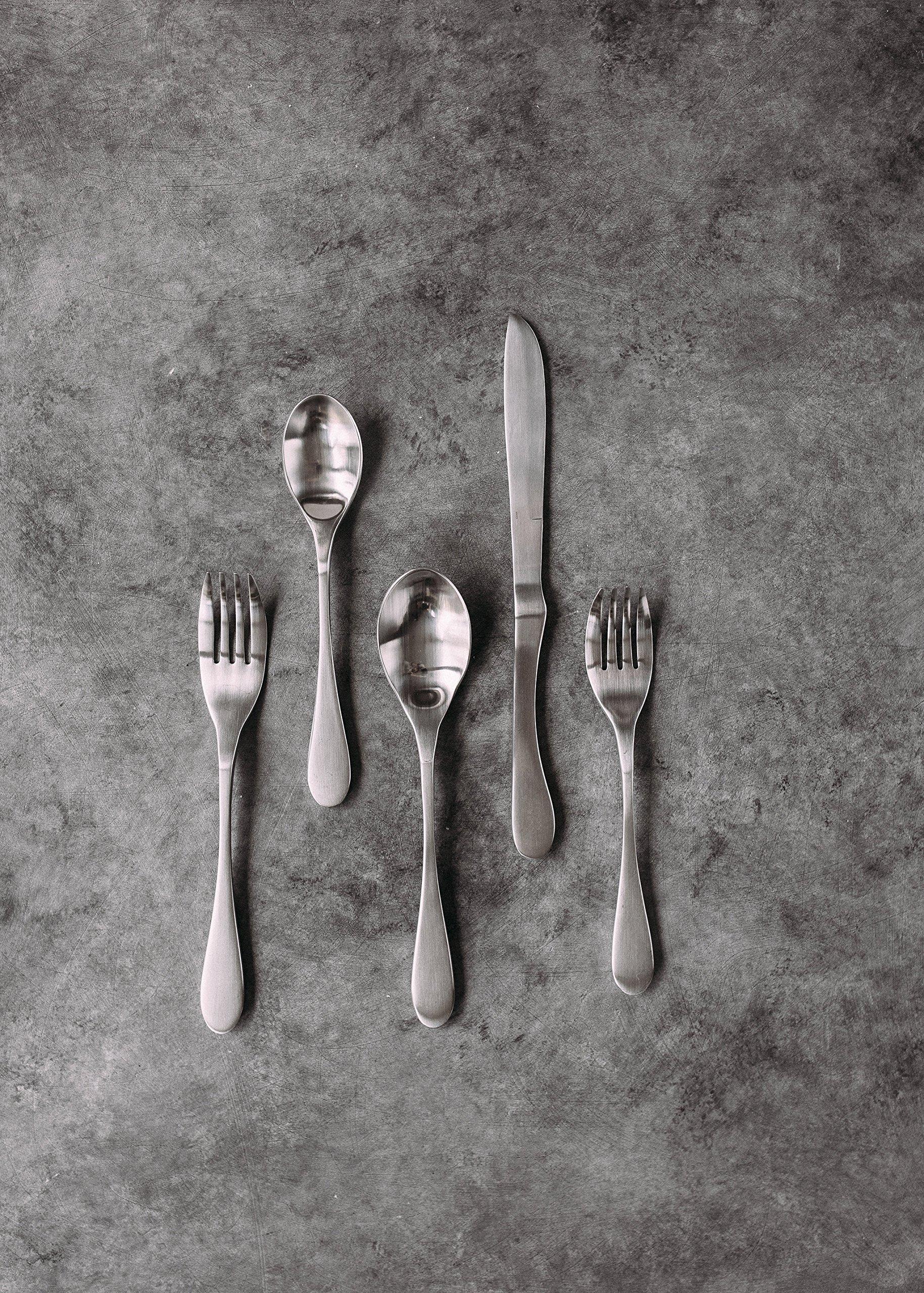 Knork 45 Piece Flatware Set, Silver Matte by Knork (Image #5)