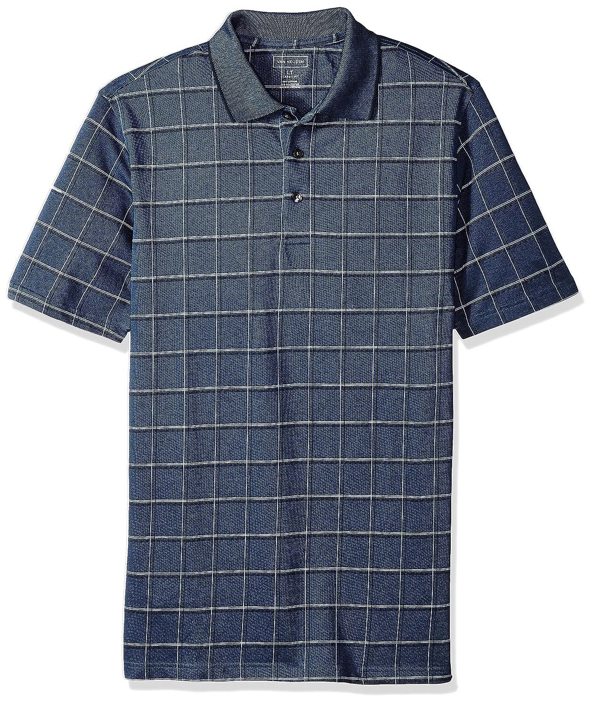 Van Heusen Mens Big and Tall Short Sleeve Windowpane Polo Shirt