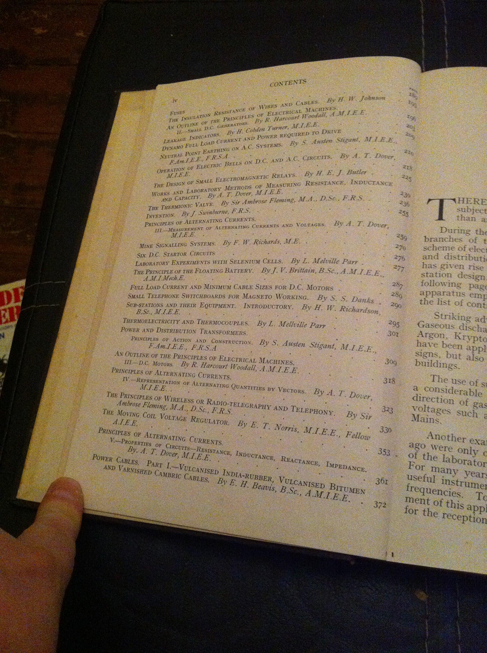 Principles Of Electrical Engineering Volume 1 Sir Fleming Wiring Diagrams Ambrose Books