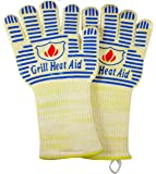 "Extreme Heat BB Grill Gloves for Baking, Grilling, Oven Use – Protection Up To 932°, 14"" Long (Limited Sale Price)"