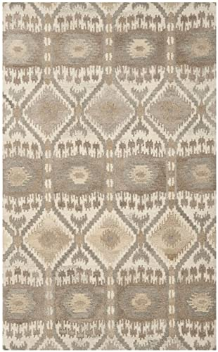 Safavieh Wyndham Collection WYD720A Handmade Natural and Multi Wool Area Rug, 3 feet by 5 feet 3 x 5