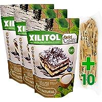 Xilitol 100% Natural 3Kg Azucar de Abedul de Finlandia + 10 sobres Regalo de Nuevo Edulcorante Moreno DULCILIGHT el…