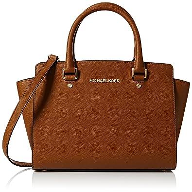 7905d276e869 Michael Kors Womens Selma Md Satchel Bag: Amazon.co.uk: Shoes & Bags