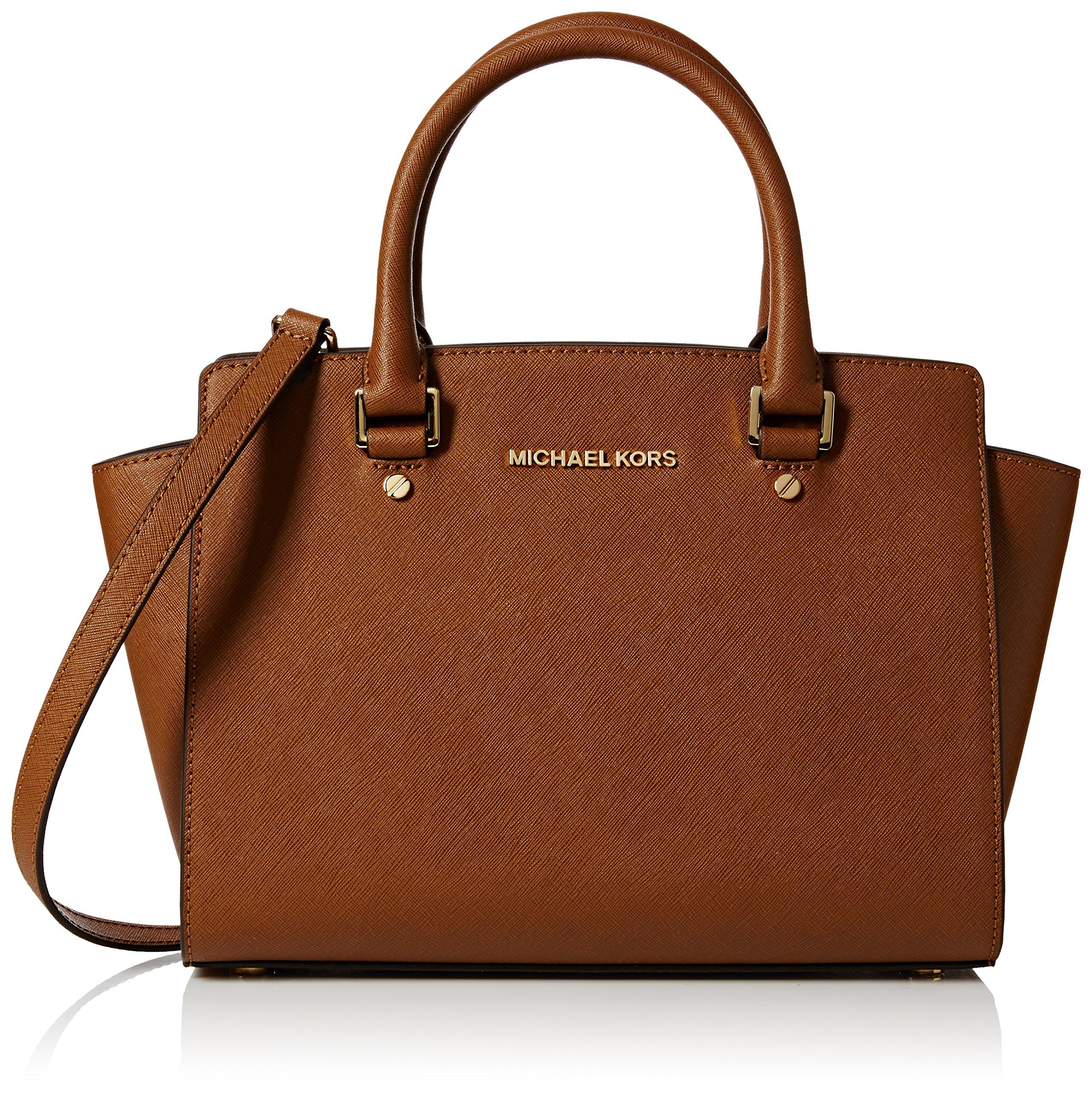 5e8203ace721 MICHAEL Michael Kors Women's Selma Medium Trapeze Satchel, Luggage, One Size