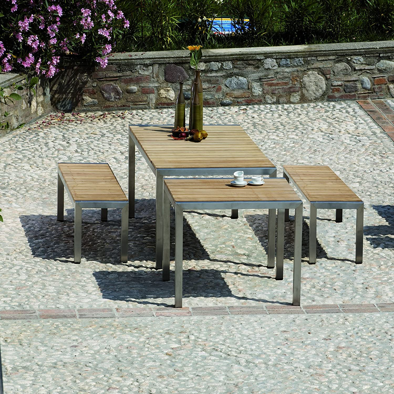 Luxury Tisch teak 90 x 90 cm