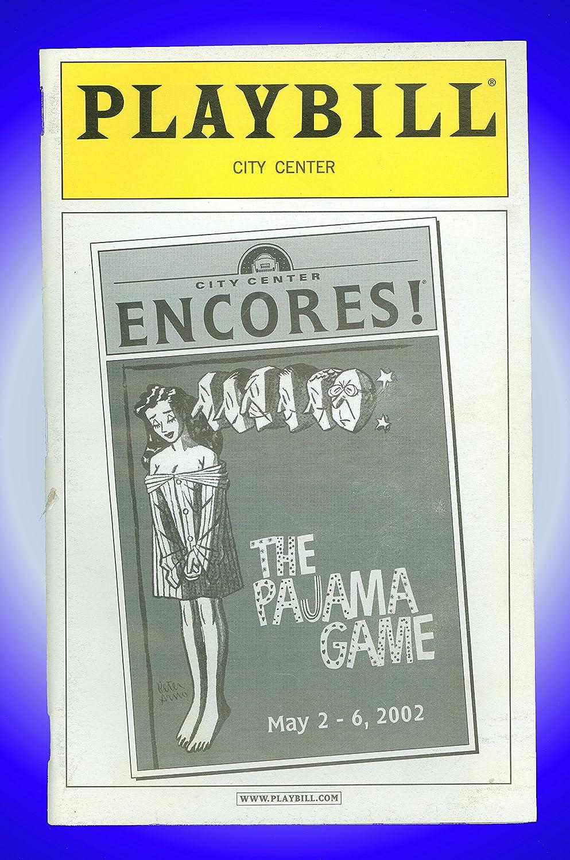 The Pajama Game Playbill Brent Barrett Karen Ziemba Daniel Jenkins Encores 2002