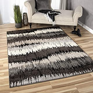 """product image for Orian Rugs American Heritage Brushed Waves Area Rug, 7'10"""" x 10'10"""", Gray"""