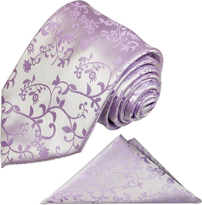 P. M. Krawatten - Corbata - Floral - para hombre morado morado ...